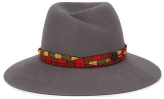 Maison Michel grey Virginie rabbit fur fedora hat