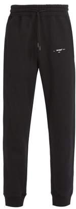 Off-White Off White Printed Cotton Sweatpants - Mens - Black