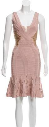 Herve Leger Embellished Kori Dress