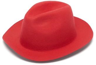 Reinhard Plank Hats - Francesco Wool Felt Fedora - Womens - Red