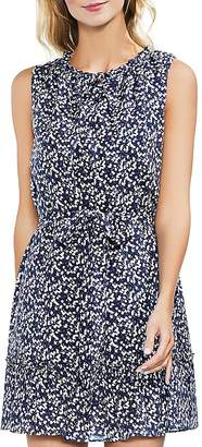 Vince Camuto Whirlwind Belted Floral-Print Dress