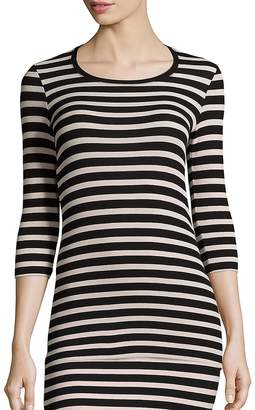 ATM Anthony Thomas Melillo Women's Striped Rib-Knit Top