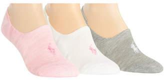Polo Ralph Lauren (ポロ ラルフ ローレン) - Polo Ralph Lauren Women's 3-Pk. Marled Sneaker Liner Socks