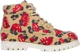 AKID Atticus Leopard Lips Boots