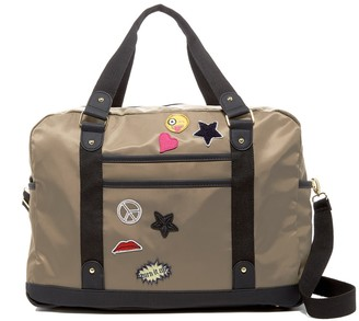 Madden Girl Nylon Patch Weekend Bag $68 thestylecure.com