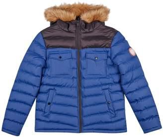 Burton Mens Two Tone Lightweight Hooded Padded Jacket