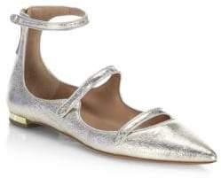 Aquazzura Claudia Schiffer for AquazzuraSunny Star Leather Flats