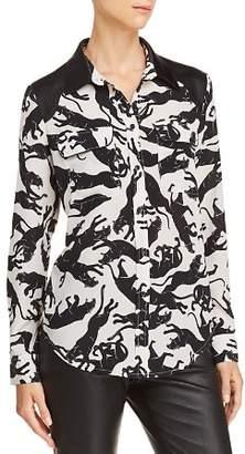 Anine Bing Cisco Printed Silk Shirt