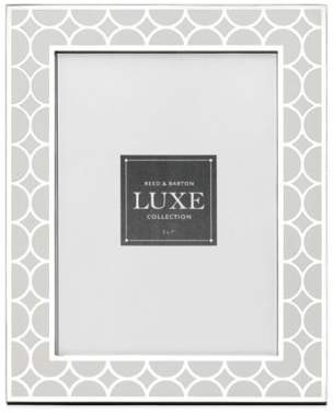 Reed & Barton Luxe Collection 5-Inch x 7-Inch Circles Picture Frame in White