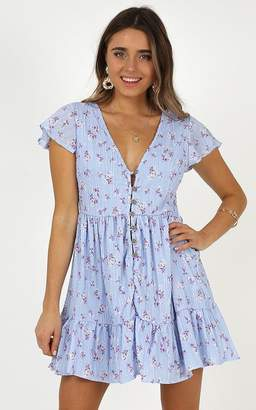 Showpo The World Is Ours dress in lilac floral