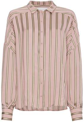 Esteban Cortazar Striped Satin Shirt