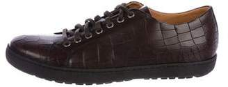 Magnanni Embossed Leather Sneakers w/ Tags
