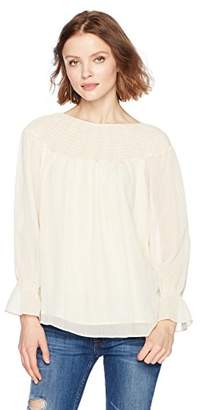 Ella Moon Women's Briteny Smocked Gathered Sleeve Top