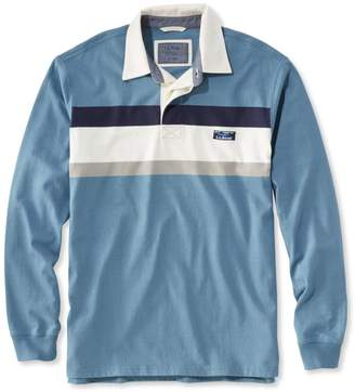 L.L. Bean L.L.Bean Lakewashed Rugby, Traditional Fit Long-Sleeve Chest Stripe
