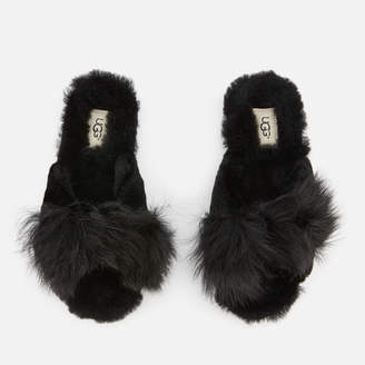 4141c308bb95 UGG Women s Mirabelle Sheepskin Slide Slippers - Black