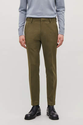 Cos SKINNY STRETCH-COTTON TROUSERS