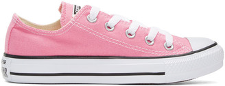 Converse Pink Classic Chuck Taylor All Star OX Sneakers $50 thestylecure.com