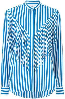 MSGM fringe striped shirt