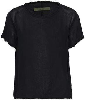 Enza Costa Frayed Crepe Top