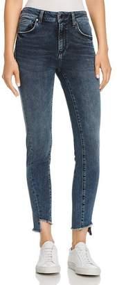 Mavi Jeans Tess Step-Hem Skinny Jeans in Twisted Dark Ink