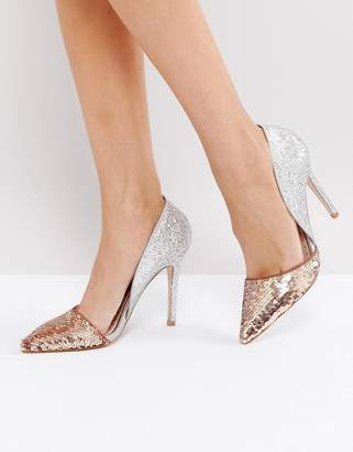 Miss KG Andrea Sequin Court Shoes