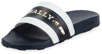 Bally Men's Ani 6 Rubber Pool Slide Sandals