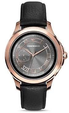 Emporio Armani Tech Rose Gold-Tone Touchscreen Smartwatch, 46mm