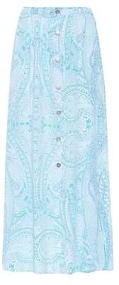 Melissa Odabash Daisy paisley-printed maxi skirt