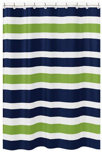 Sweet Jojo Designs Stripe Brushed Microfiber Shower Curtain
