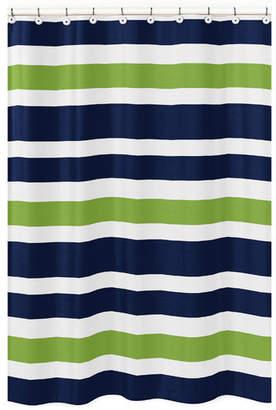 JoJo Designs Sweet Stripe Brushed Microfiber Shower Curtain