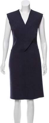 Maison Margiela Wool-Blend Knee-Length Dress