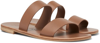 Álvaro González Alex Leather Sandals - Men - Brown