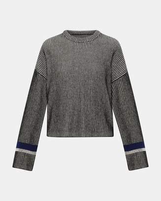 Theory Stripe Mix Crewneck Sweater