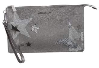 MICHAEL Michael Kors Leather Zip Clutch