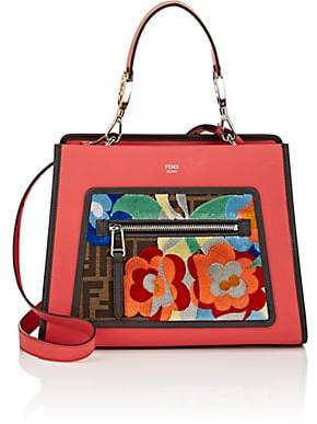 Fendi Women's Runaway Small Leather Tote Bag - Red