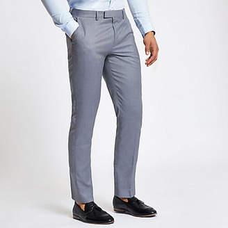 River Island Light blue slim fit suit trousers