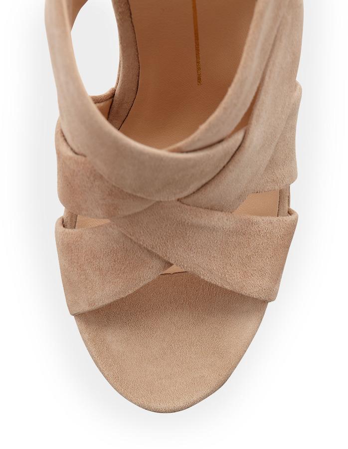 Dolce Vita Garren Suede Platform Sandal, Nude