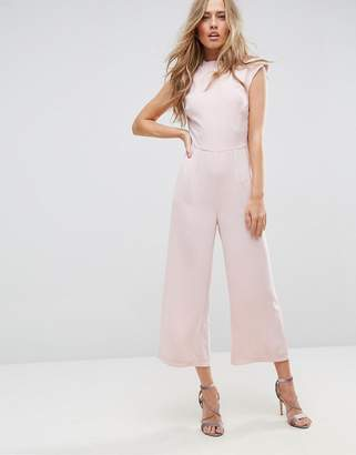 Asos Design Jumpsuit with High Neck and Wide Leg