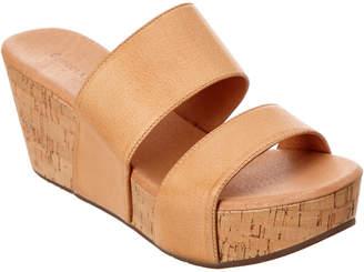 Chocolat Blu Waller Leather Wedge Sandal