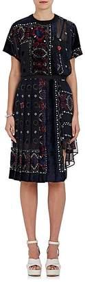 Sacai WOMEN'S FIL COUPÉ CHIFFON TUNIC DRESS