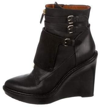 Givenchy Pointed-Toe Wedge Ankle Boots Black Pointed-Toe Wedge Ankle Boots