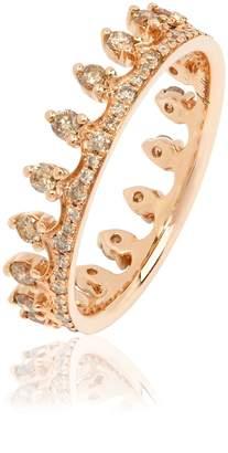 Annoushka Brown Diamond Rose Gold Crown Ring