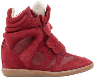 Isabel Marant Beckett Burgundy Leather Trainers