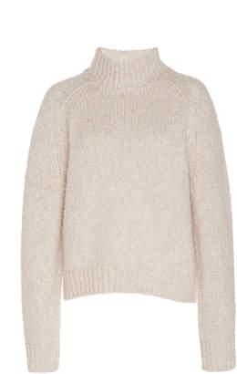 Vince Textured Wool-Cashmere-Blend Turtleneck Sweater