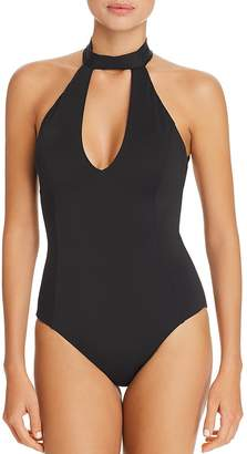 Laundry by Shelli Segal Choker One Piece Swimsuit