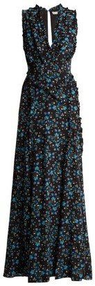 Altuzarra Medina Vine Print Silk Crepe De Chine Dress - Womens - Black Print