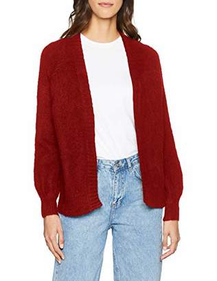 PepaLoves Women's Tiger EMB.Cardigan Wine Cardigan, Red 0, (Size:Medium)
