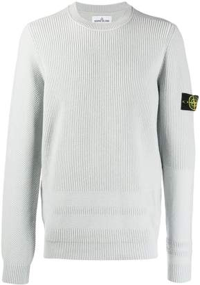 Stone Island embroidered logo patch jumper
