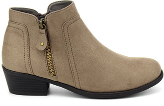 Taupe Tildon Side-Zip Boot $39.99 thestylecure.com