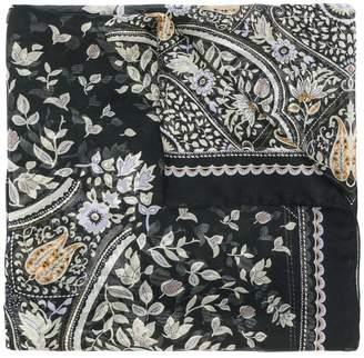 Max Mara floral print scarf